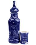 Набор под святую воду (бутылка, стакан), керамика, цвет кобальт, объём 0,7л
