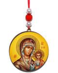 Икона автомобильная круглая Пресвятая Богородица
