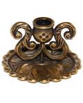 Подсвечник из мельхиора с ручками, цвет бронза, диаметр отверстия 6мм