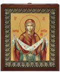 Икона Покров Пресвятой Богородицы, размер 13*16см, золочение поталью