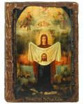 Икона под старину Торжество Пресвятой Богородицы (Порт-Артурская), размер 14,5х20см, дерево
