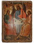 Икона под старину Святая Троица, размер 14,5х20см, дерево