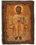 Икона под старину Спас Златая риза, размер 14,5х20см, дерево