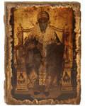 Икона под старину Святитель Спиридон Тримифунтский, размер 14,5х20см, дерево