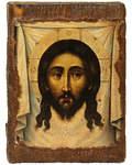 Икона под старину Спас Нерукотворный, размер 14,5х20см, дерево