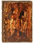 Икона под старину Апостолы Петр и Павел, размер 14,5х20см, дерево
